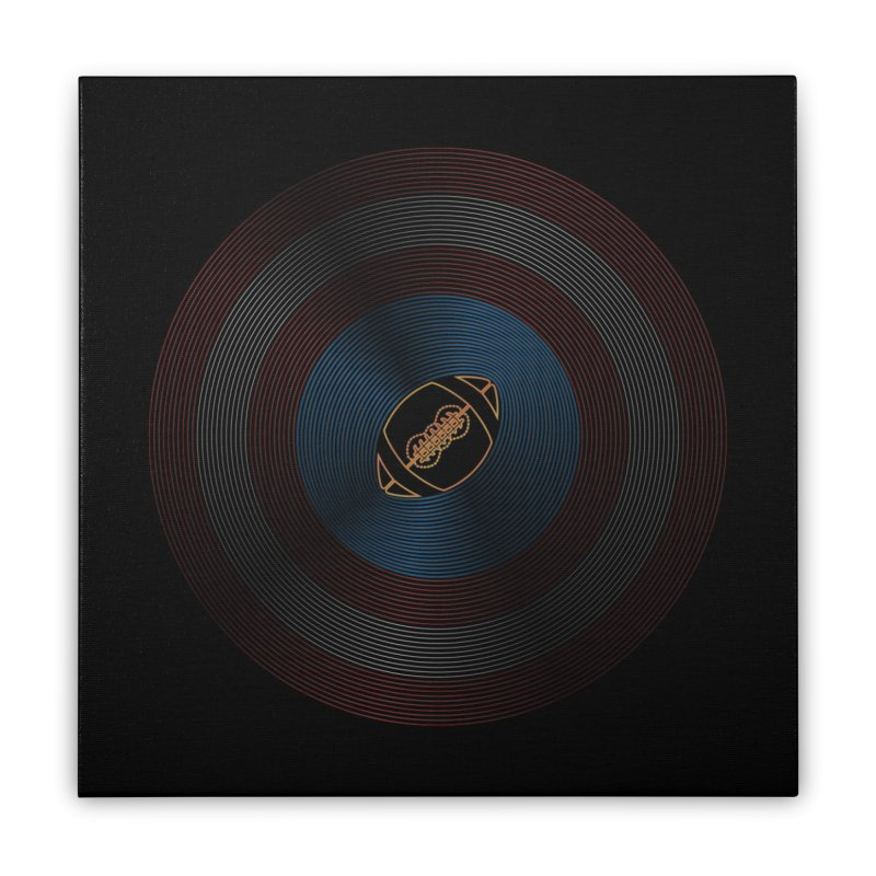 captain american football Home Stretched Canvas by SOE