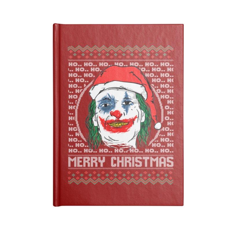 ho ho ho merry christmas ugly sweater joker Accessories Blank Journal Notebook by SOE