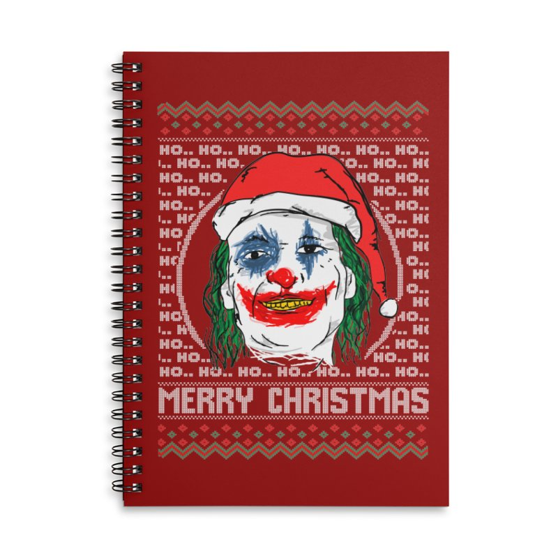 ho ho ho merry christmas ugly sweater joker Accessories Lined Spiral Notebook by SOE