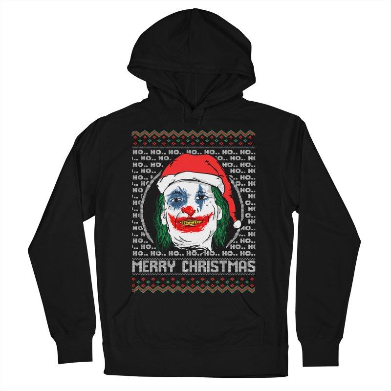 ho ho ho merry christmas ugly sweater joker Women's French Terry Pullover Hoody by SOE