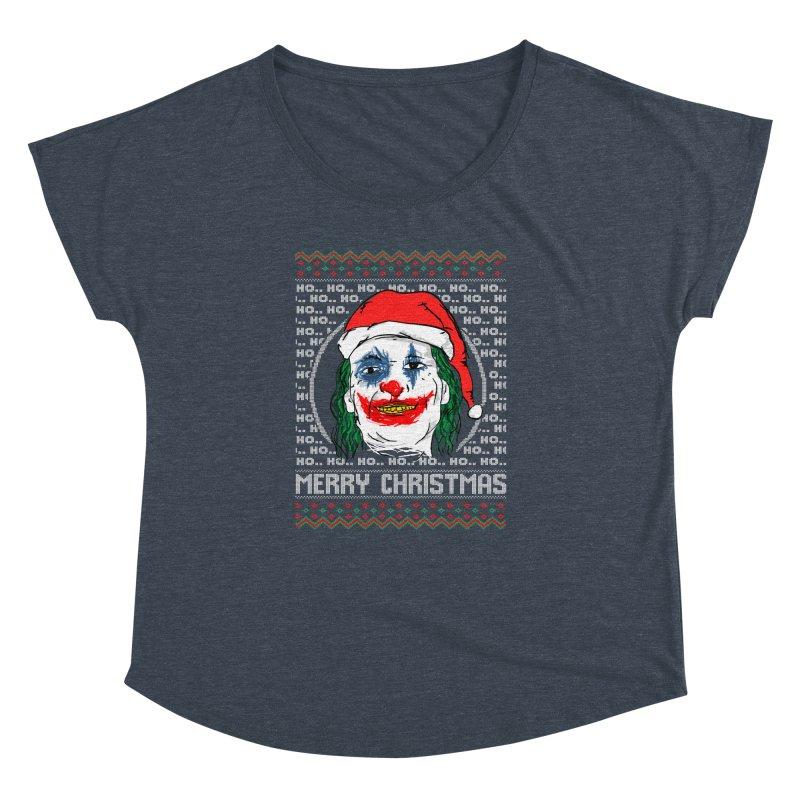 ho ho ho merry christmas ugly sweater joker Women's Dolman Scoop Neck by SOE