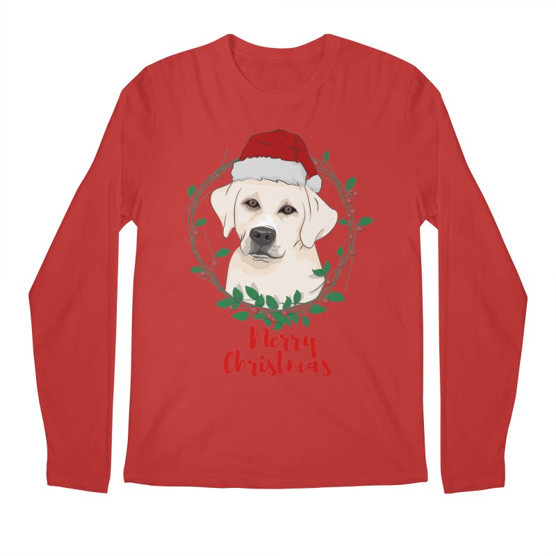 labrador dog merry christmas Men's Longsleeve T-Shirt by SOE
