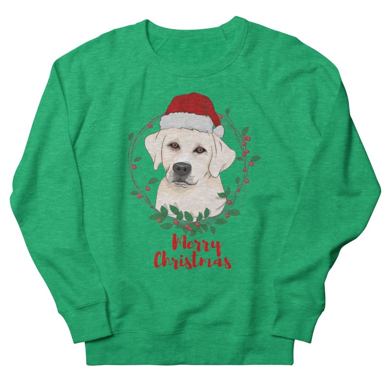 labrador dog merry christmas Men's Sweatshirt by SOE