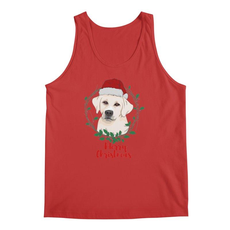 labrador dog merry christmas Men's Tank by SOE