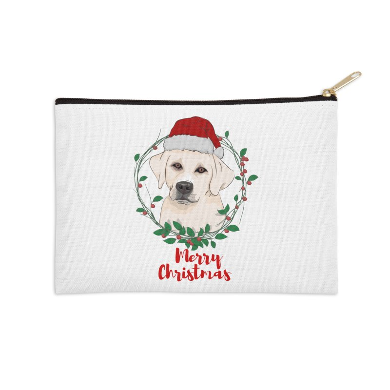 labrador dog merry christmas Accessories Zip Pouch by SOE