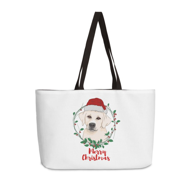 labrador dog merry christmas Accessories Weekender Bag Bag by SOE