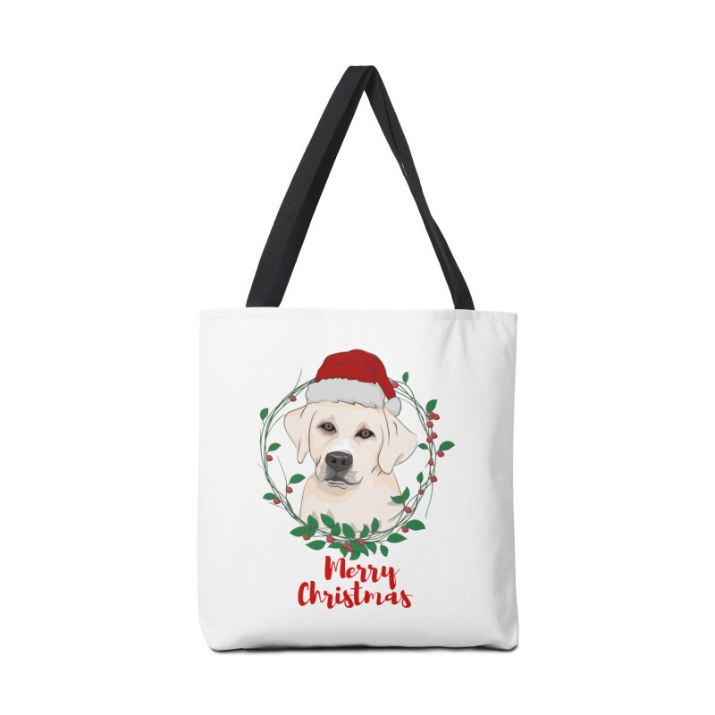 labrador dog merry christmas Accessories Bag by SOE