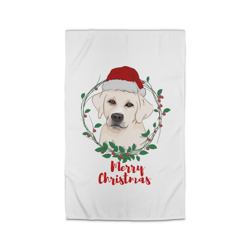 labrador dog merry christmas Home Rug by SOE