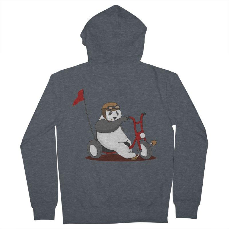 panda custom garage Men's French Terry Zip-Up Hoody by SOE