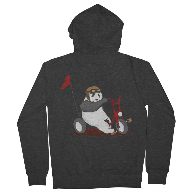 panda custom garage Men's Zip-Up Hoody by SOE