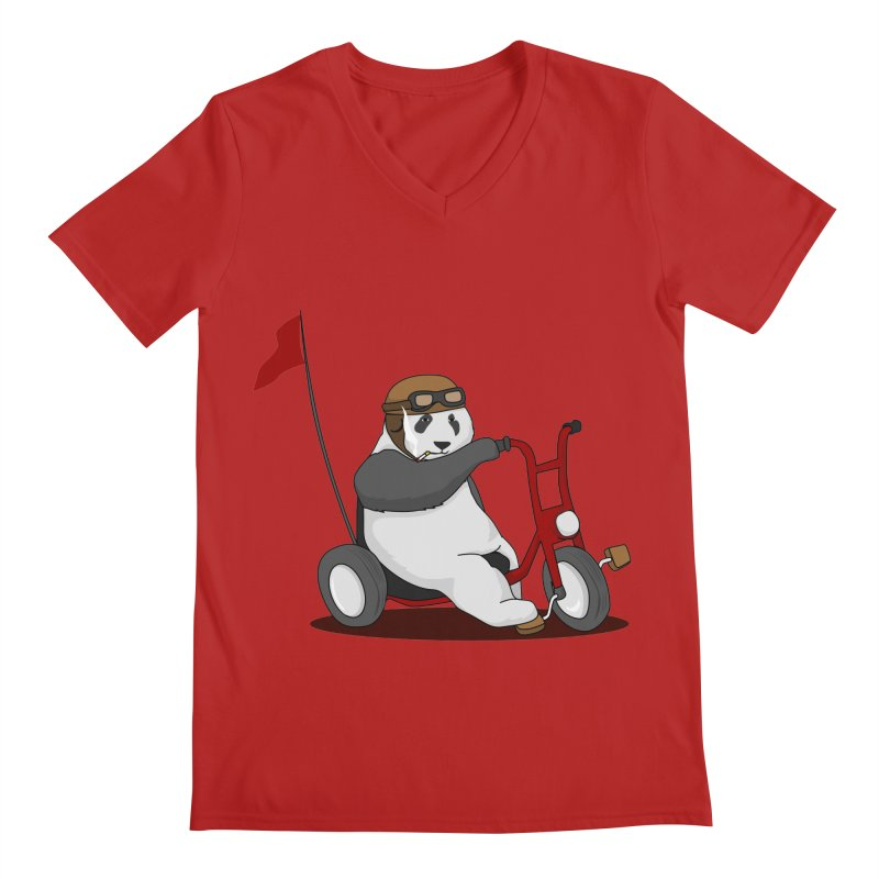 panda custom garage Men's V-Neck by SOE