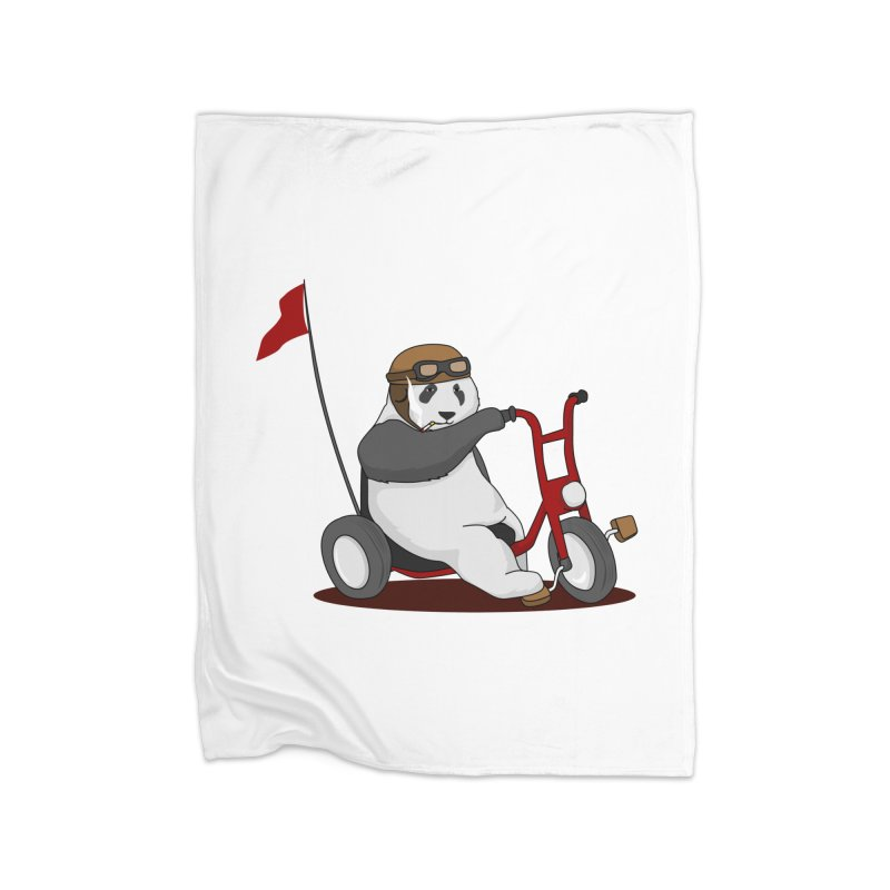 panda custom garage Home Fleece Blanket by SOE