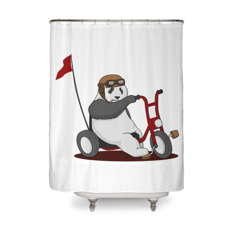 panda custom garage Home Shower Curtain by SOE
