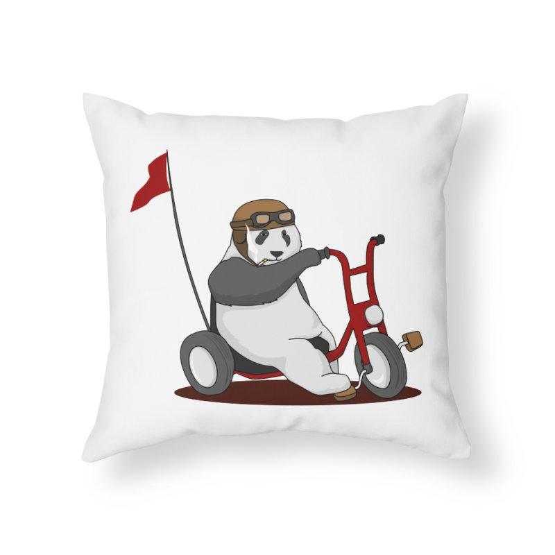 panda custom garage Home Throw Pillow by SOE