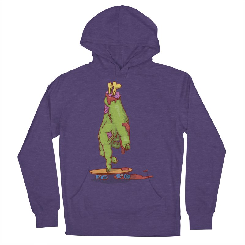 zombie hand skateboard Men's French Terry Pullover Hoody by SOE