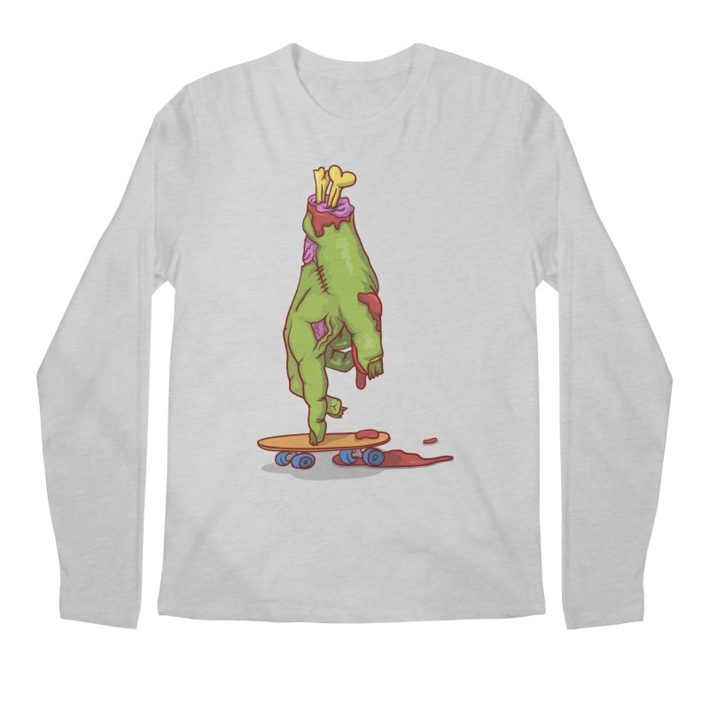 zombie hand skateboard Men's Regular Longsleeve T-Shirt by SOE