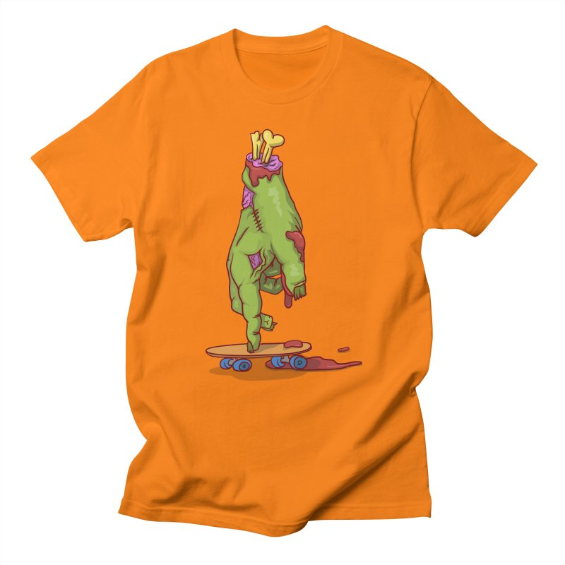 zombie hand skateboard Men's Regular T-Shirt by SOE