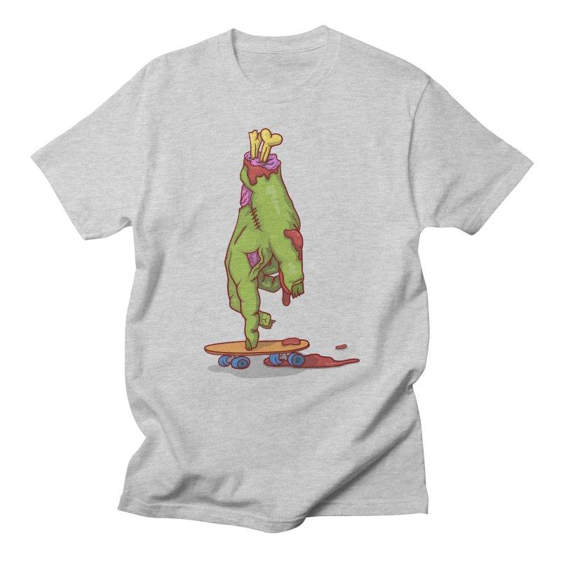 zombie hand skateboard Men's T-Shirt by SOE