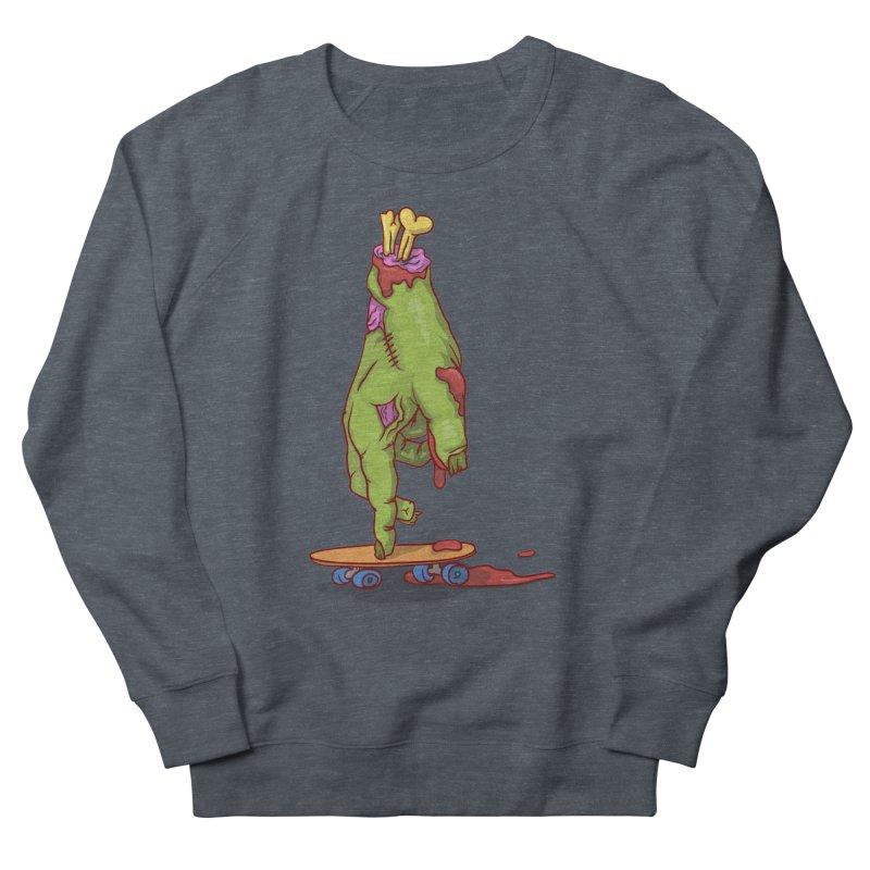 zombie hand skateboard Men's French Terry Sweatshirt by SOE