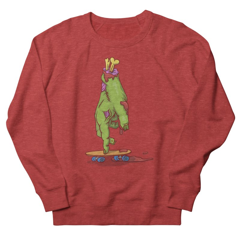 zombie hand skateboard Men's French Terry Sweatshirt by SOE