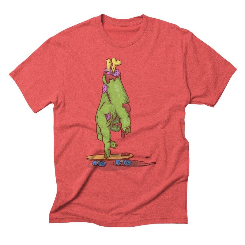 zombie hand skateboard Men's Triblend T-Shirt by SOE