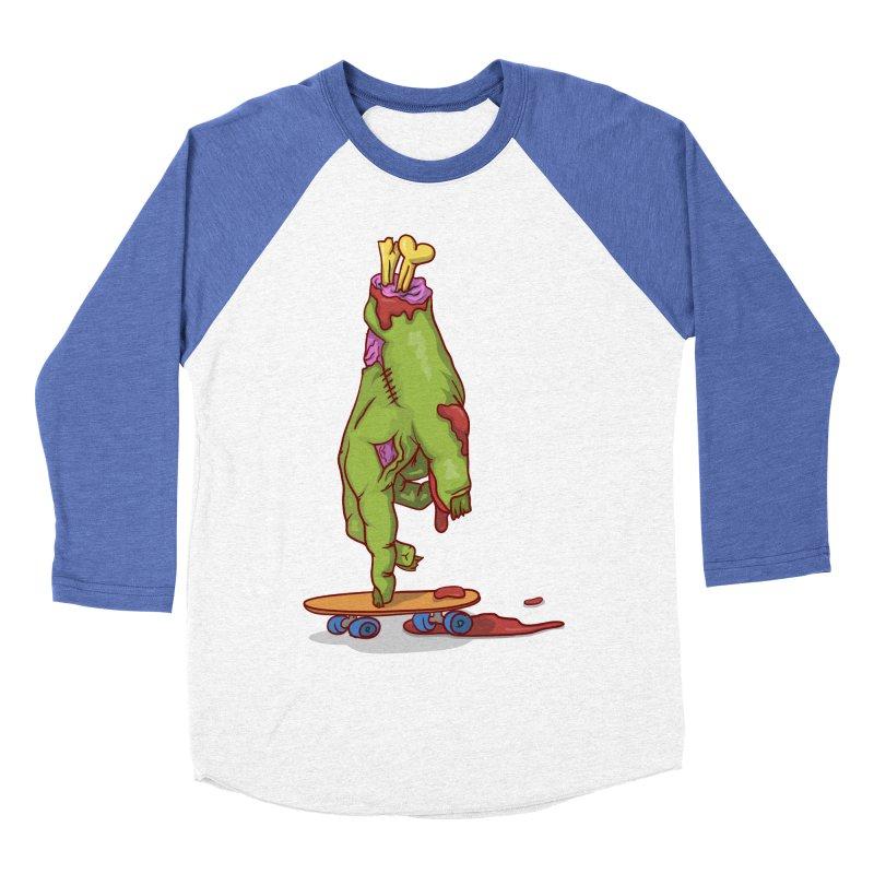 zombie hand skateboard Men's Baseball Triblend T-Shirt by SOE