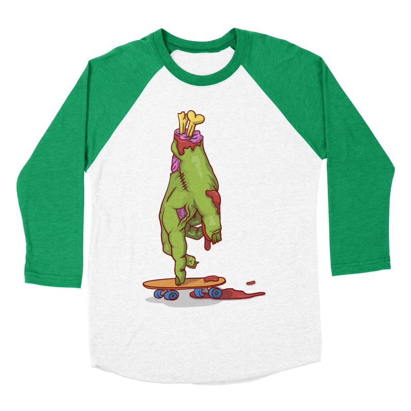 zombie hand skateboard Men's Baseball Triblend Longsleeve T-Shirt by SOE