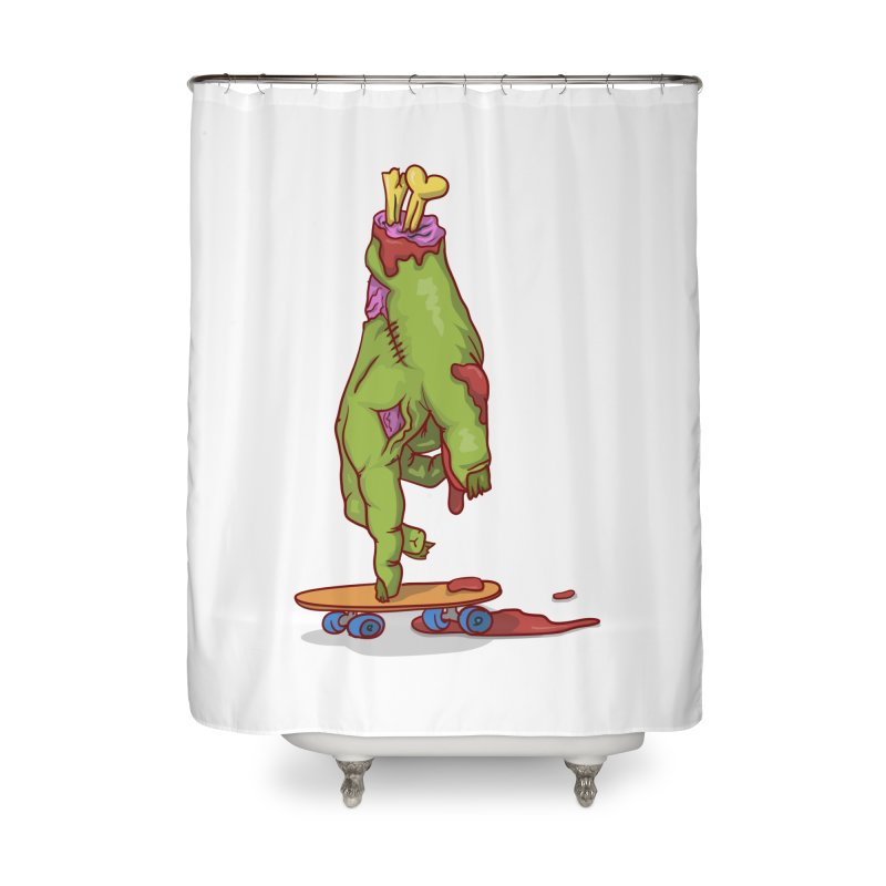 zombie hand skateboard Home Shower Curtain by SOE
