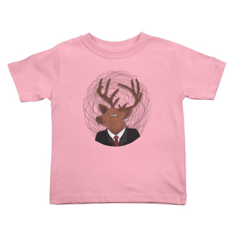 Mr Deer Kids Toddler T-Shirt by SOE