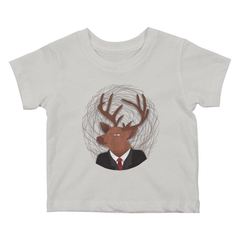 Mr Deer Kids Baby T-Shirt by SOE