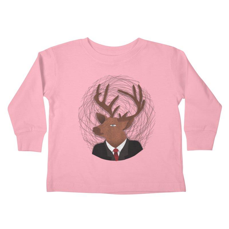 Mr Deer Kids Toddler Longsleeve T-Shirt by SOE