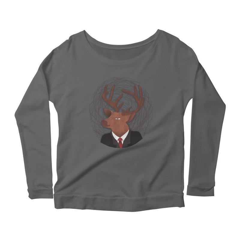 Mr Deer Women's Longsleeve Scoopneck  by SOE