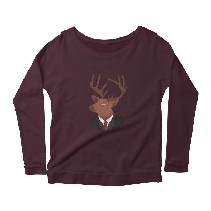 Mr Deer Women's Longsleeve Scoopneck  by SOE