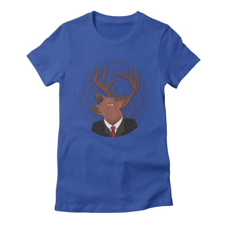 Mr Deer Women's Fitted T-Shirt by SOE