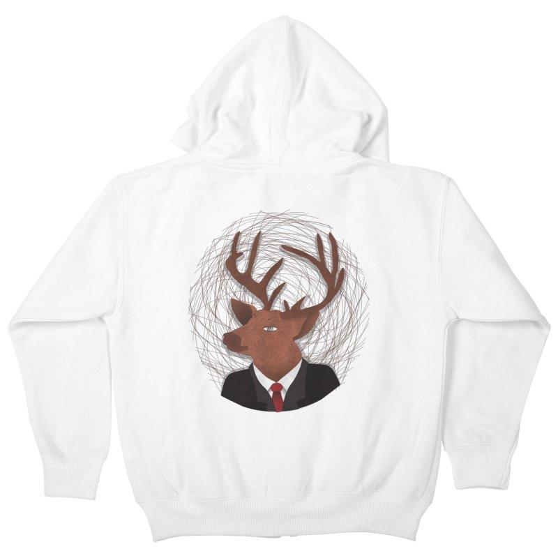 Mr Deer Kids Zip-Up Hoody by SOE