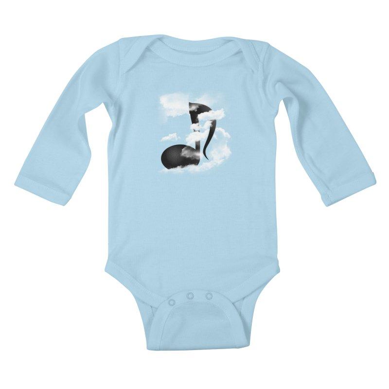 Music in the Sky Kids Baby Longsleeve Bodysuit by SOE