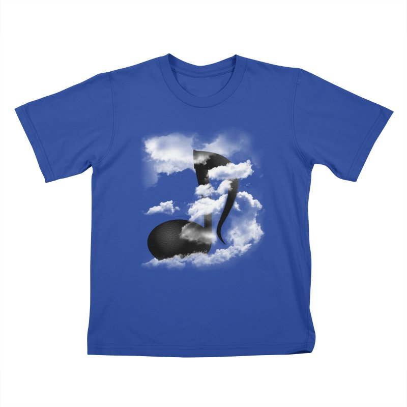 Music in the Sky Kids T-Shirt by SOE