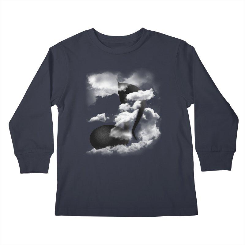 Music in the Sky Kids Longsleeve T-Shirt by SOE