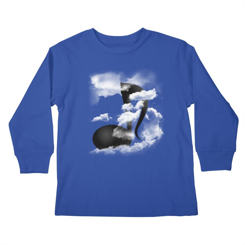 Music in the Sky Kids Longsleeve T-Shirt by SOE