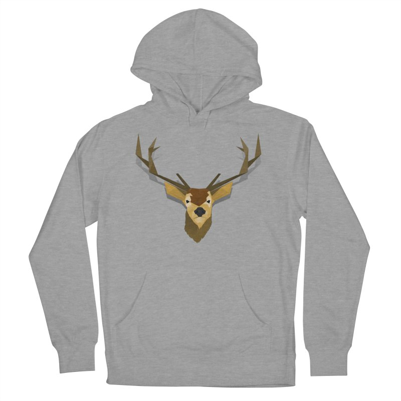 Low Poly Deer Women's Pullover Hoody by SOE