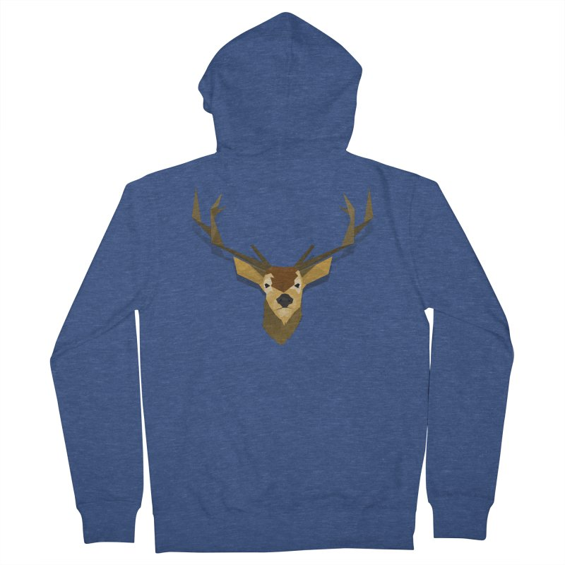 Low Poly Deer Women's Zip-Up Hoody by SOE