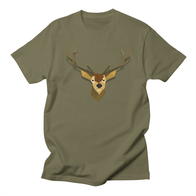 Low Poly Deer Men's T-shirt by SOE