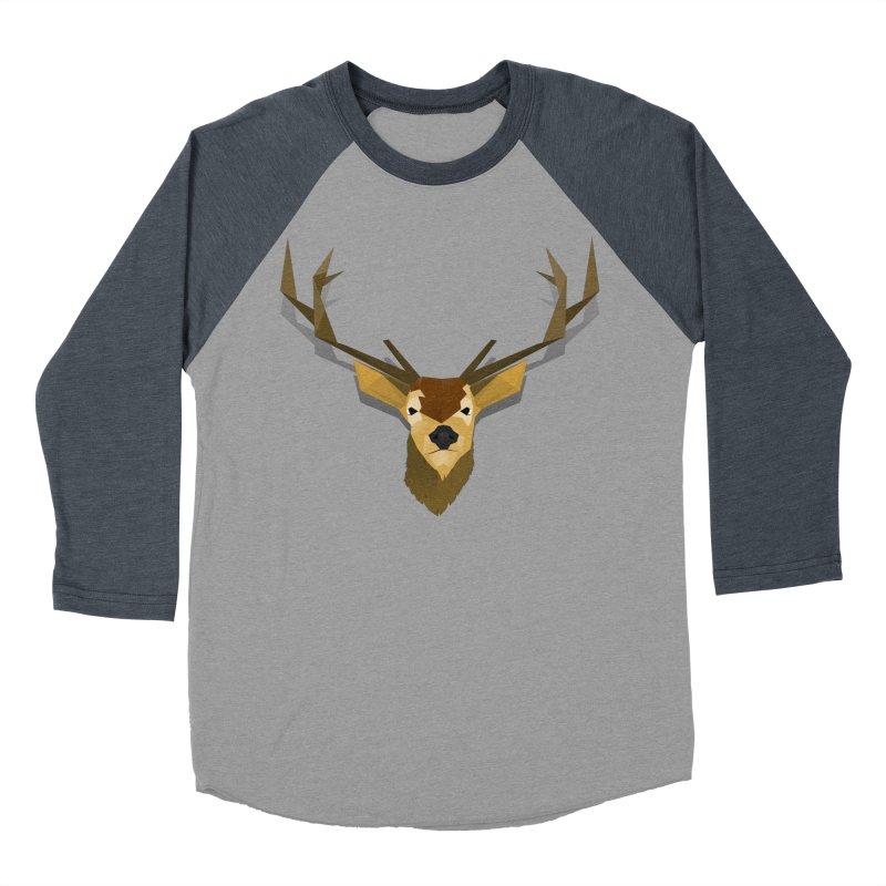 Low Poly Deer Men's Baseball Triblend T-Shirt by SOE