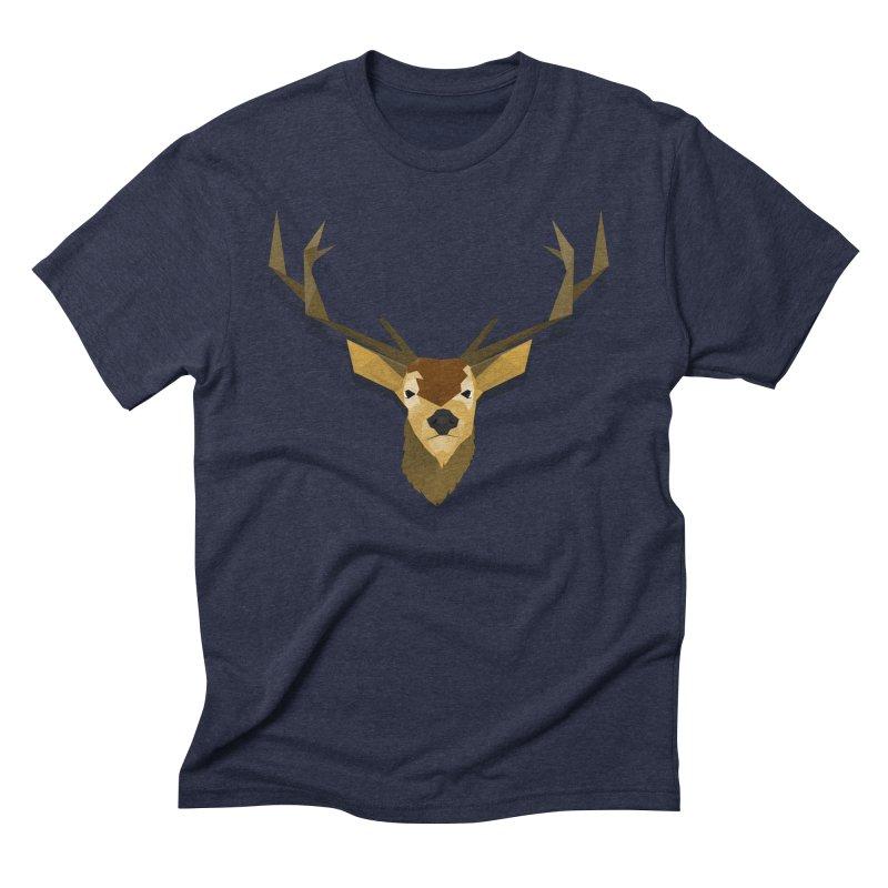 Low Poly Deer Men's Triblend T-shirt by SOE