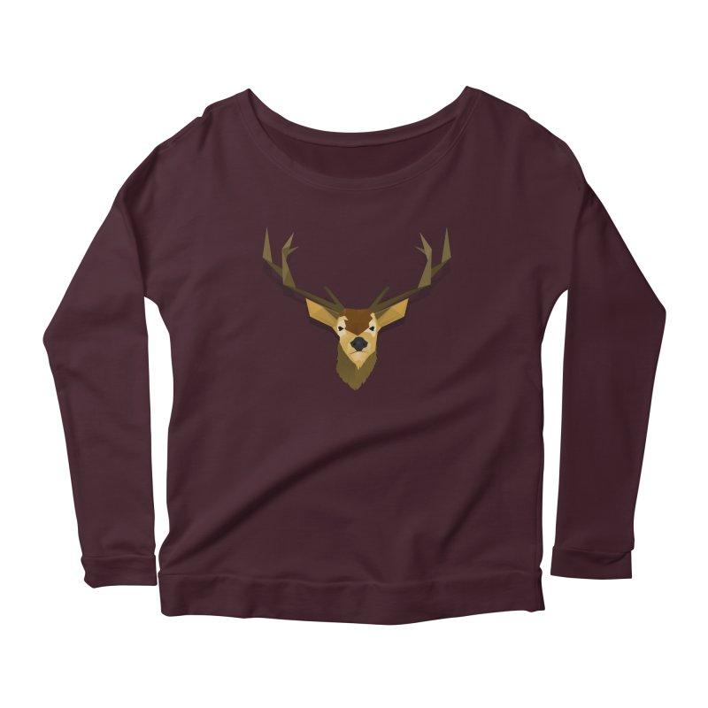Low Poly Deer Women's Longsleeve T-Shirt by SOE