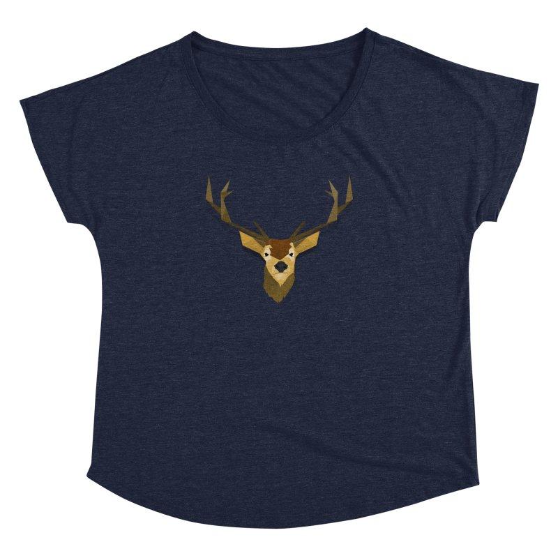 Low Poly Deer Women's Dolman Scoop Neck by SOE