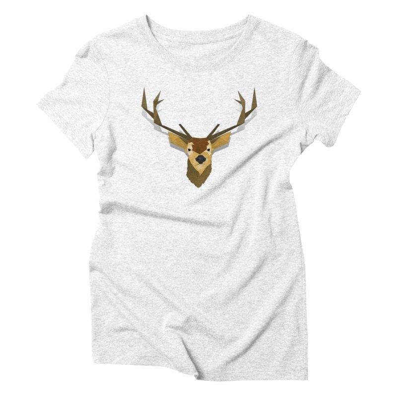 Low Poly Deer Women's Triblend T-shirt by SOE
