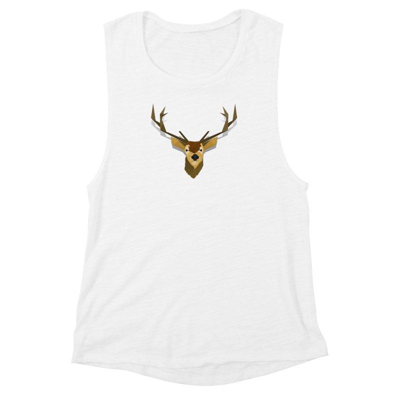 Low Poly Deer Women's Muscle Tank by SOE