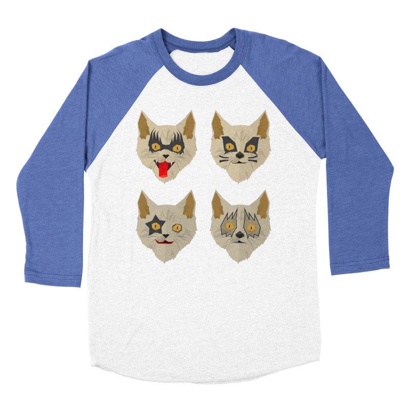 Cat Kiss Women's Baseball Triblend Longsleeve T-Shirt by SOE