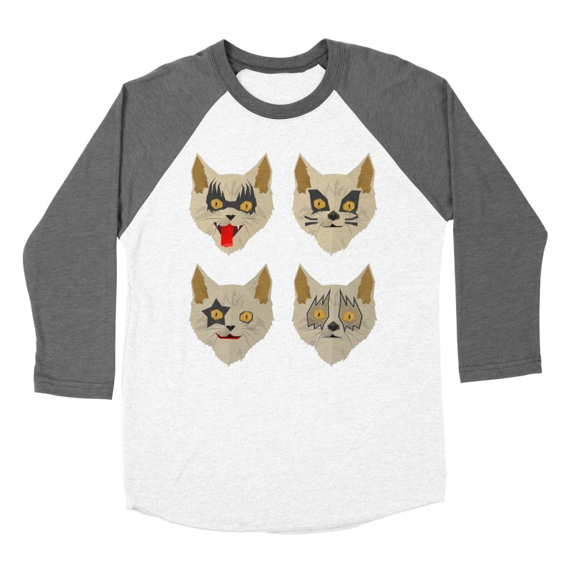 Cat Kiss Women's Baseball Triblend T-Shirt by SOE